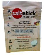 SaltStick FASTCHEWS Pfirsich Elektrolyt-Kautabletten Zip-Pack