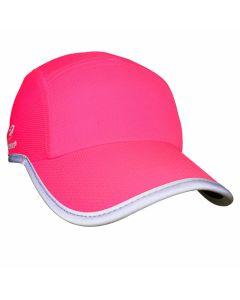 Headsweats Reflective Race Hat Damen Laufkappe Neon-Pink