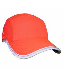 Headsweats Reflective Race Hat Damen Laufkappe Neon-Coral