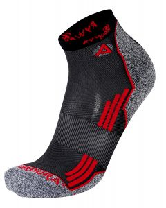 Rywan 1065 No Limit Running Socks Laufsocken Black/Red