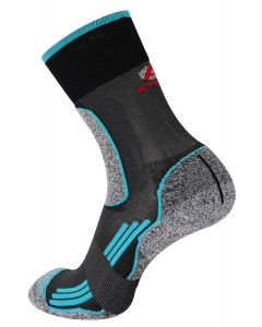 Rywan 1066 No Limit Walk Socks Wandersocken Black/Turquois