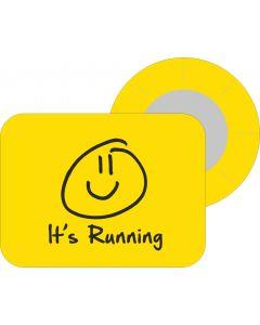 BibBits Magnetische Startnummernhalter - Smiley Yellow