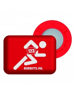 BibBits Magnetische Startnummernhalter - Red