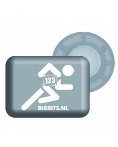 BibBits Magnetische Startnummernhalter - Grey