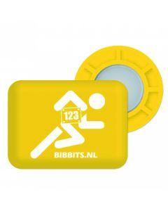 BibBits Magnetische Startnummernhalter - Yellow
