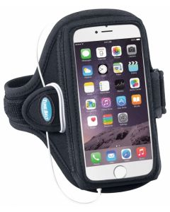 AB91 Tune Belt Sport Arm Band Black f. iPhone 6+ u. Note 2-4