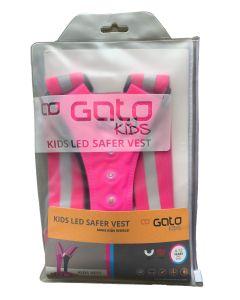 Gato KIDS LED Safer Vest Sicherheitsweste Pink