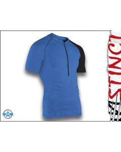 Instinct Sensation Ice Short Sleeve Trail Shirt Blue/Black Front