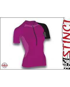 Instinct Sensation Ultra Short Sleeve Trail Shirt Magenta/Black Front