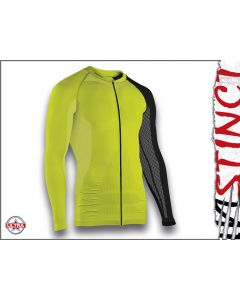 Instinct Sensation Ultra Long Sleeve Trail Shirt Lime/Black Front