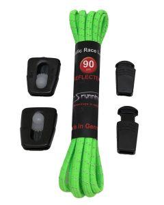 Elastic Race Laces Triathlonschnürsenkel neon-grün