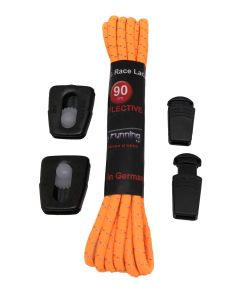 Elastic Race Laces Triathlonschnürsenkel neon-orange