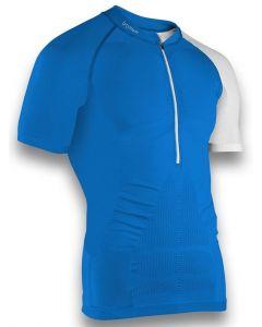 Instinct Sensation Ice Short Sleeve Trail Shirt Blue/White Front