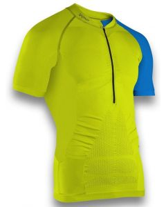 Instinct Sensation Ice Short Sleeve Trail Shirt Lime/Blue Front