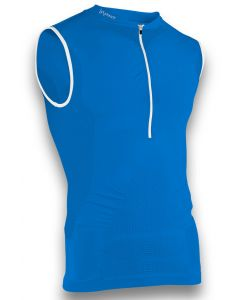 Instinct Sensation Ice Sleeveless Tank Top Blue/White Front