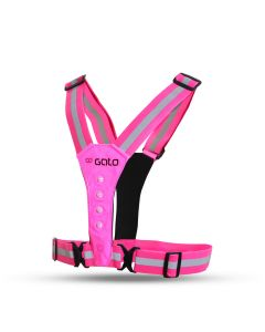 Gato LED Safer Sport Vest USB Sicherheitsweste Pink