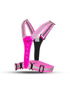 Gato LED Safer Sport Vest Sicherheitsweste Pink Side