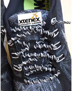 XTENEX Sport Schnürsenkel - Schwarz/Weiß